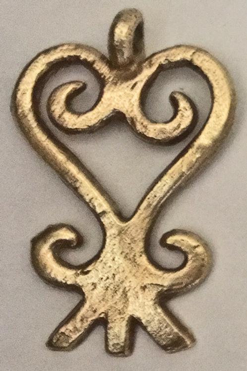 Asante Sankofa Brass Symbol