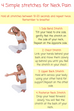 4 Simple stretches for Neck Pain! Check it out!