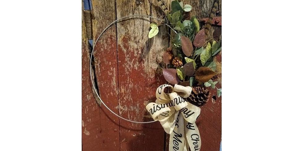 Hoop Wreath Class at The Barn