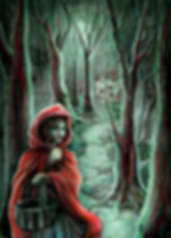 Grimm's Little Red Riding Hood, illustration by Hannah Seakins