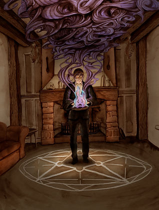 The Spell, from Dianna Wynne Jones' Howl's Moving Castle. Illustration by Hannah Seakins