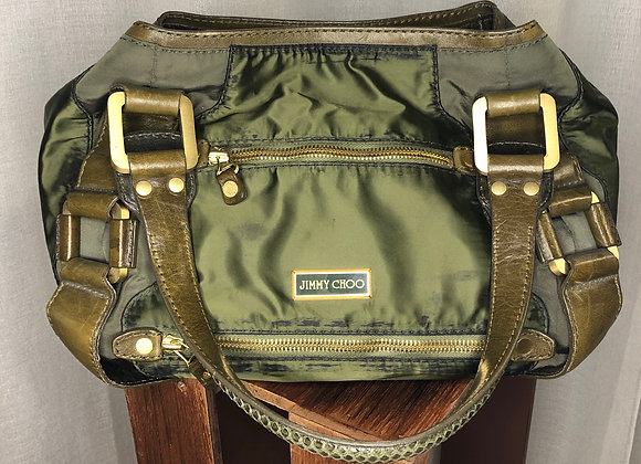 Jimmy Choo Green Shoulder Bag