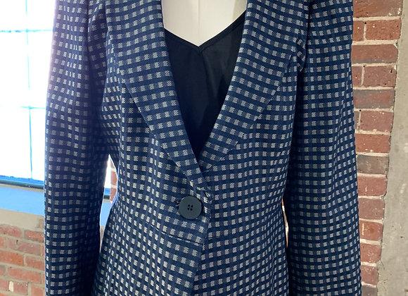 Vintage Giorgio Armani Check Plaid Blazer, Size 10