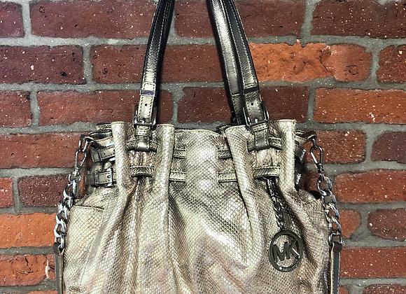 MICHAEL Michael Kors Gold Snakeskin Bag