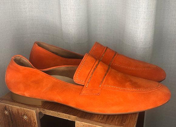 Paul Green Orange Suede Flats