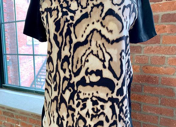 Diane Von Furstenberg Leopard Print Top, Size 0