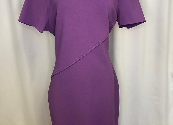 St. John Purple Knit Dress, Size 14