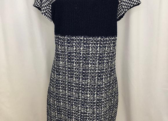 St. John Knit Herringbone Dress, Size 10