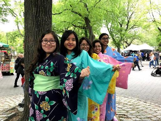Yukatas on Mother's Day at Japan Day in Central Park