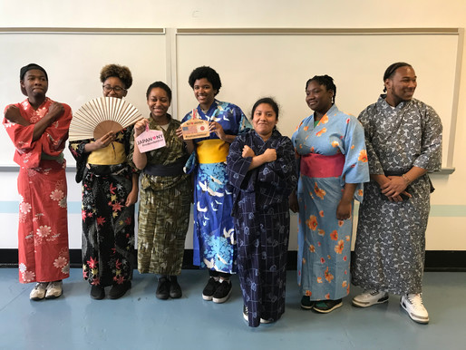 Bronx High School Students in Traditional Japanese Garb