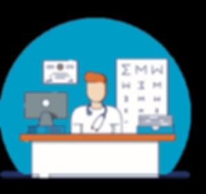 Dokter in dokterspraktijk