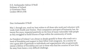 President of Ireland thanks our volunteers and staff for 25 years of Care, Culture and Community