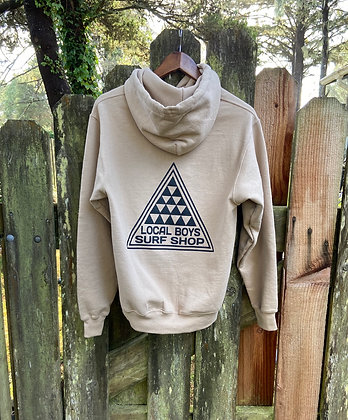 Local Boys - Adult Pullover Hoodie Tan