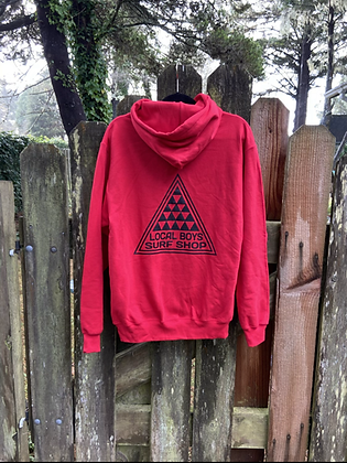 Local Boys - Adult Pullover Hoodie Red