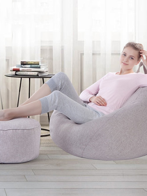 VESCOVO Medium Size Sandalye Bean Bag Lazy Bag Relax Chair Bean Puff Sofa