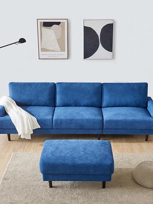 Modern Design Blue Polyester Fiber Household Apartment Living Room  Sofa Bed