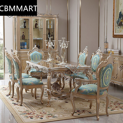 Luxury Antique  Solid Wood Dinning Table and Living Room Furnitures