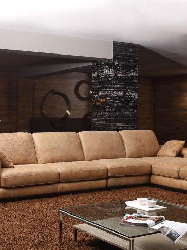 Top Quality Good Design Living Room Sofa Set Genuine Leather Sofa Set L Shaped