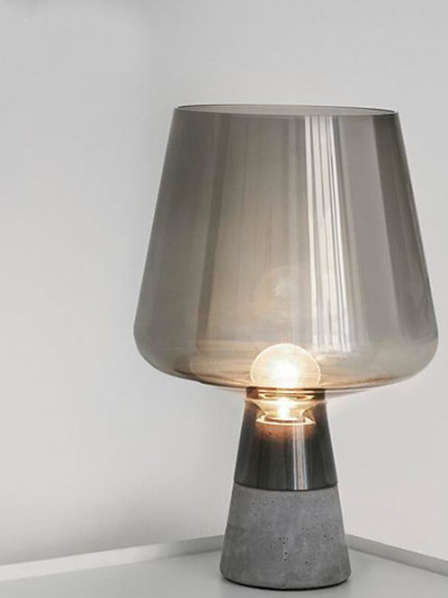 Industrial Cement Table Lamp Modern Glass Table Lamps for Living Room Bedroom