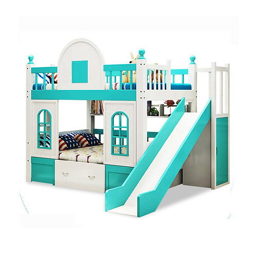 Fashion Design Castle Style Twin Bunk Bed Kids