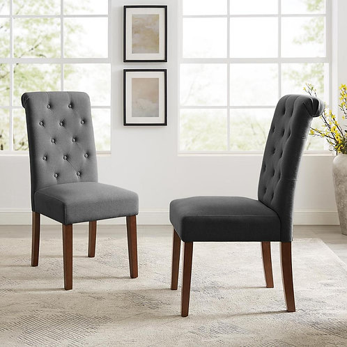 Tribesigns Chair Set  Tufted Parsons Dining With Solid Wood Legs, Accent Chair