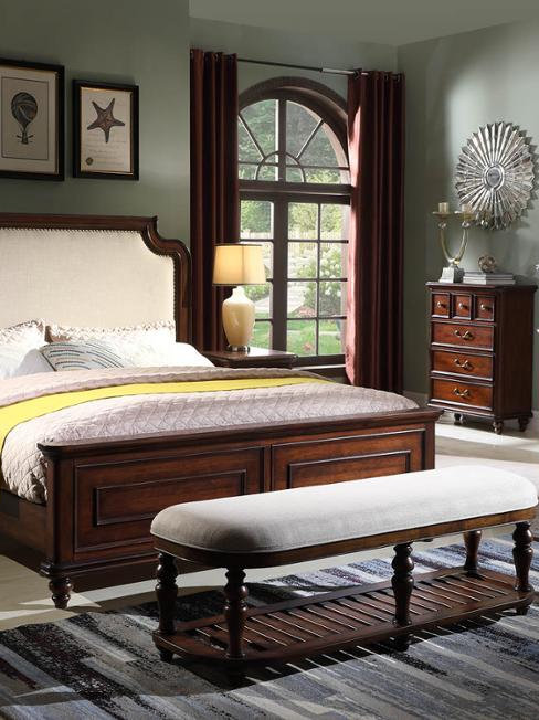 Classic Wooden Bedroom Furniture King Queen Size Bed Wardrobe Chest of Drawers