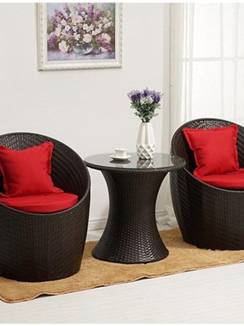 Rattan Chairs Outdoor Furniture Garden  Relaxing Patio  Threepiece Suit