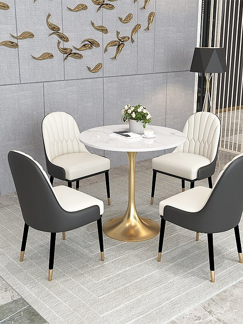 Modern Bedroom Furniture Luxurious Dining Chairs Nordic Solid Wood Dining