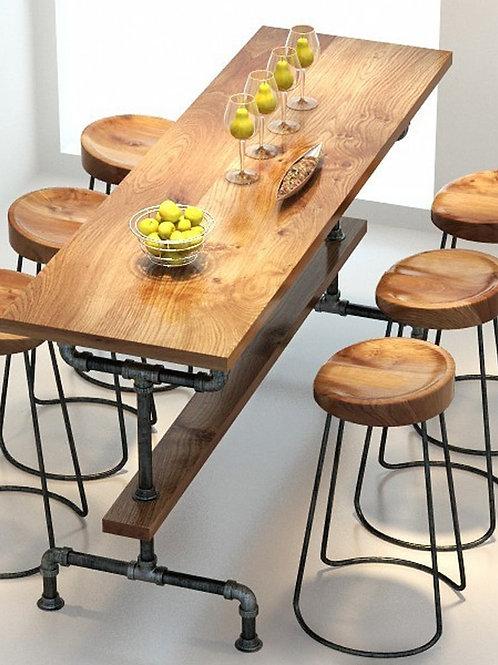 The Village of Retro Furniture,Vintage Metal Bar Table,anti Rust Treatment, bar