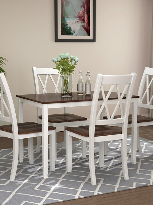 5-Piece Kitchen Chair Dining Table Set Kitchen Furnitures Modern Wooden Dining