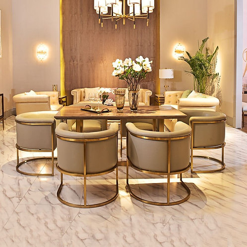 Italy Dining Table Design Luxury Marble Top Dining Table Set