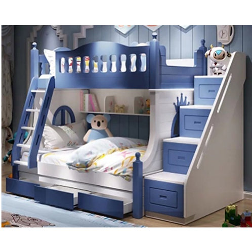 Hot Popular Wood Bed Bunk Bed Italy Design Child Bed Solid Wooden Bed