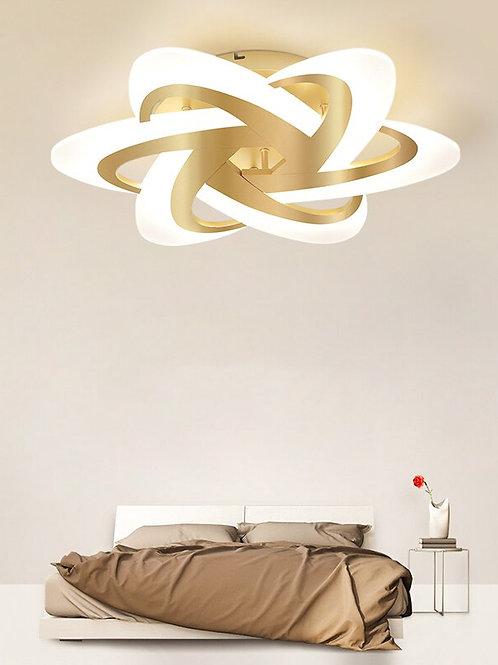 Gold Aluminum Bedroom Ceiling Lamp  Modern Nordic Luxury LED Lamp Study  Lamp