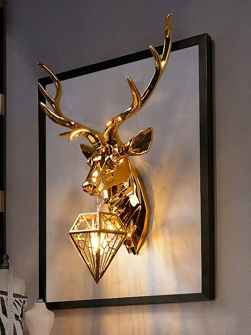 Nordic Antler Wall Lamp Creative Wall Lamps Deer Lamp for Bedroom Buckhorn