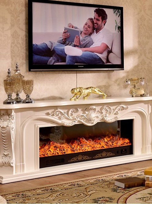 Living Room Decorating Warming Fireplace Wooden Fireplace Mantel W200cm Electric