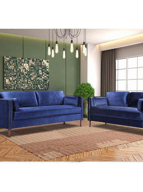 2 Pcs/Set Sectional Sofa  Wooden Frame 2P 3P Spring  Classic Sectional Sofa Kit