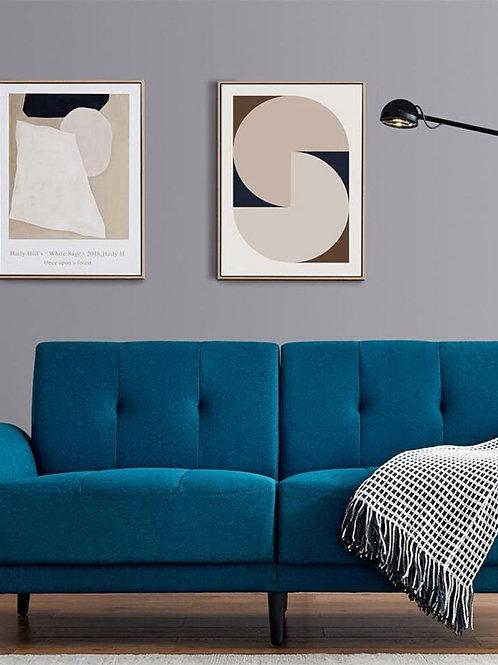Modern Design Antique Blue Modern Sofa Home Apartment Living Room  Sofa Bed