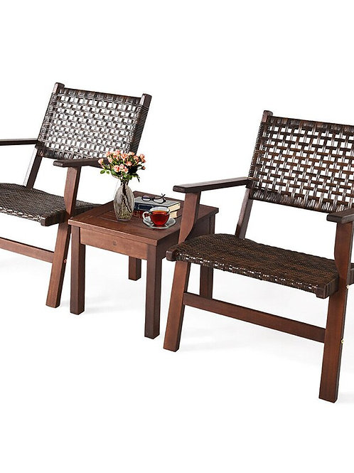 Sturdy Coffee Table Multipurpose Furniture Set Solid Wood Frame 3PCS  OP70267