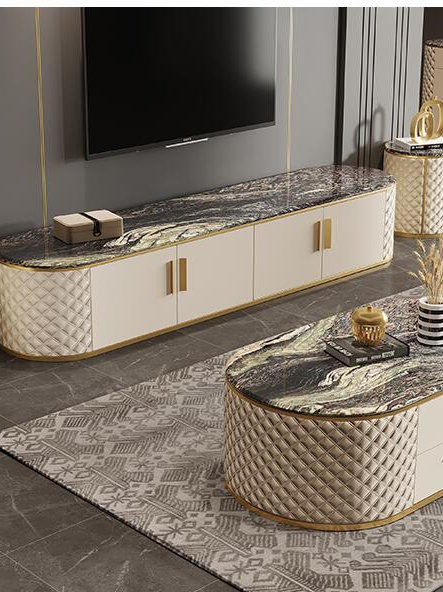 TV Cabinet Marble Coffee Table TV Cabinet