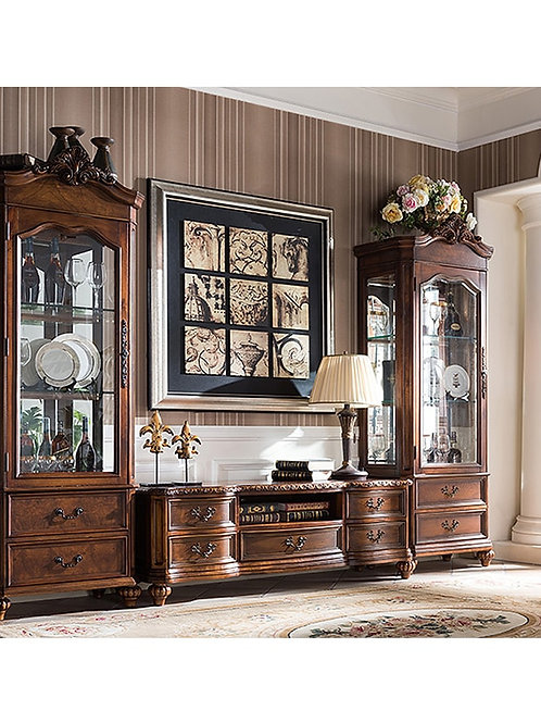 Wooden Glass Classic Dining Sideboard Cabinet of Dinner Side Cabinet