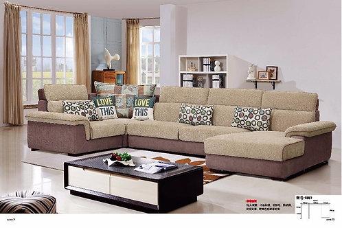 LDM1897 Modern Living Room Fabric Sofa Sectional Hemp  Living Room Furniture