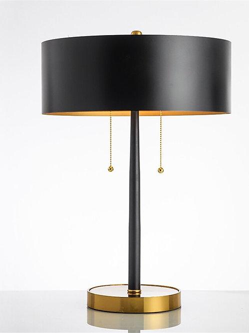 Nordic Black Metal LED Table Lamp Office Table Decor Cloth Desk Lamps Bedside
