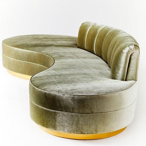 Luxury S-Type 3 Person Velvet Sofa for Clothing Store