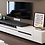 Thumbnail: White Painted Coffe Table TV Cabinet Combination Fashion Wood Grain Stretchable