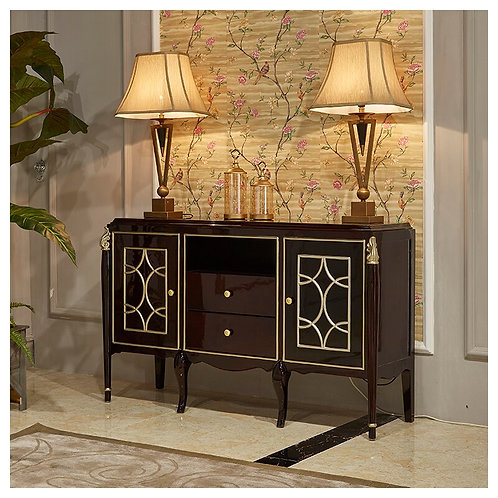 Living Room Sideboard Cabinets Furniture European Luxury Classic Buffet
