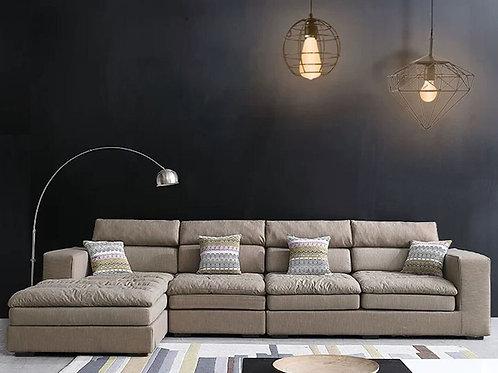 High Quality Living Room Sofa Set Home Furniture Modern Design Cotton Fabric