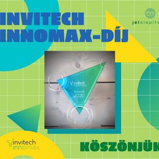 Elnyertük az Invitech InnoMax díjat!