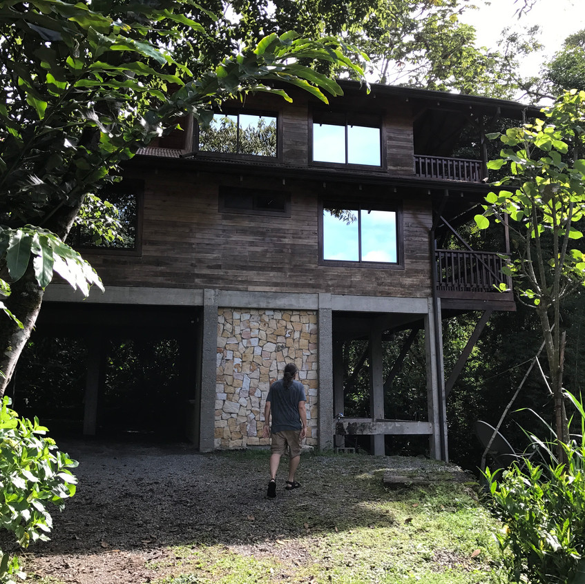 Our beautiful little cabin in the jungle