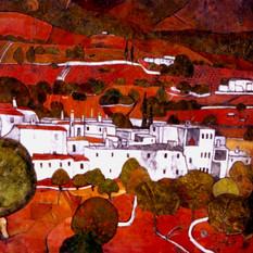 White village in the Alpijarras