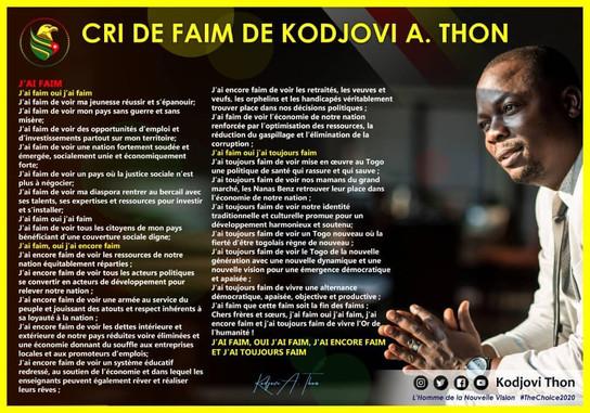 Le Cri de faim de Dr. Kodjovi Thon